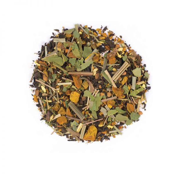 دمنوش گیاهی چای پیور - لمونگرس - زنجبیل - دارچین