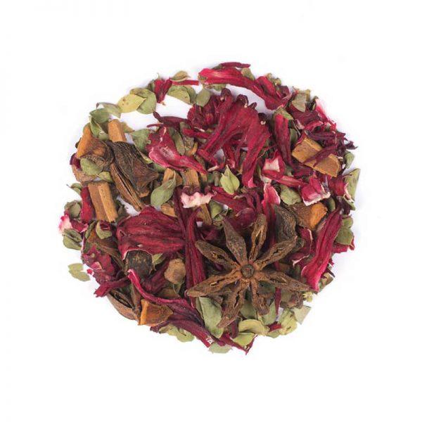 دمنوش گیاهی مخلوط چای ترش - آویشن - دارچین - بادیان ستاره ای