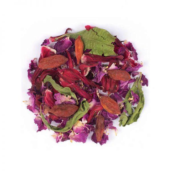 خرید اینترنتی دمنوش گیاهی مخلوط چای ترش - گل رز - گوجی بری - به لیمو