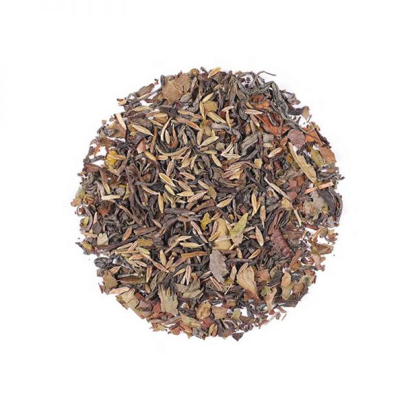 دمنوش گیاهی مخلوط چای سفید - چای سبز - جاسمین - زیره