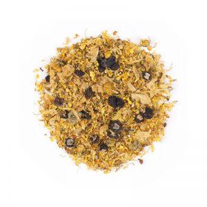 خرید اینترنتی دمنوش گیاهی مخلوط گل داوودی - زیتون شیرین - ولف بری سیاه