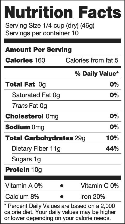 ارزش غذایی لوبیا سیاه